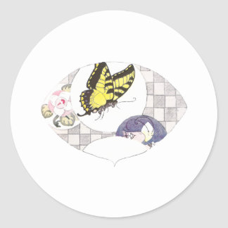 I Dream of Butterfly Classic Round Sticker