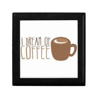 I dream of coffee jewelry box