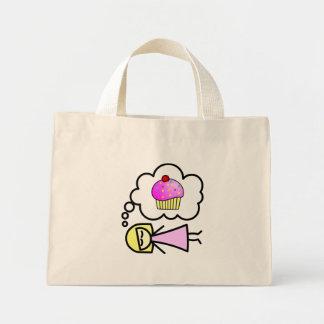 I dream of cupcakes mini tote bag
