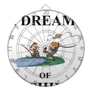 I Dream Of Fishing Dartboard With Darts