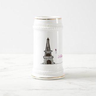 I Dream Of Paris, 2 18 Oz Beer Stein