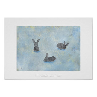 I Dream of Rabbits fun unique modern art painting Posters