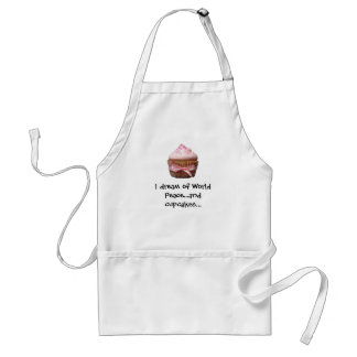 I dream of World Peace...and cupcakes Apron