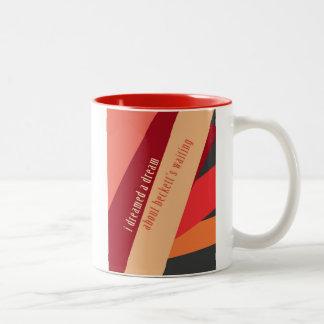 """I Dreamed A Dream About Beckett's Waiting"" Two-Tone Coffee Mug"
