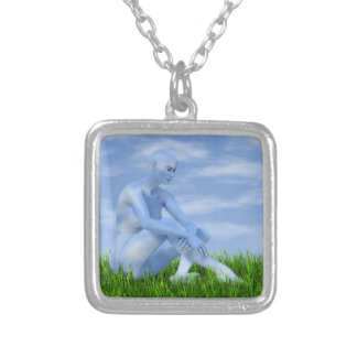 I dreamed I became the sky Silver Plated Necklace