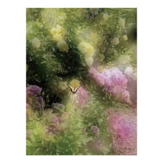 I Dreamed Of An Old Fashioned Rose Garden Poster