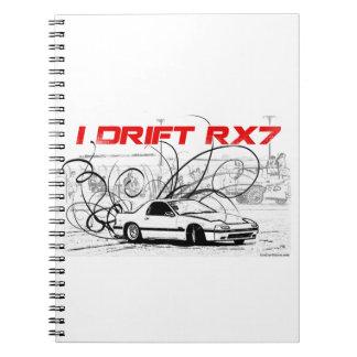 I Drift RX7 Spiral Notebooks
