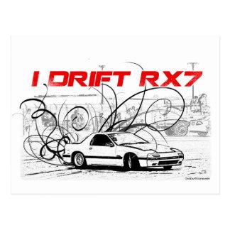 I Drift RX7 Postcard