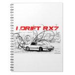 I Drift RX7 Spiral Note Book