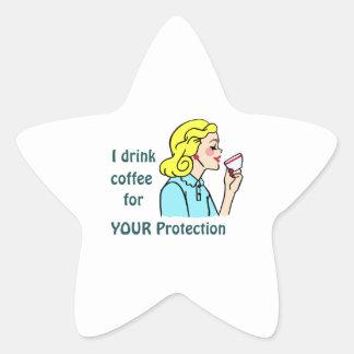 I drink Coffee Star Sticker