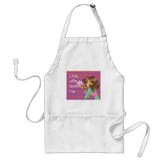 I drink coffee, therefore I am. Adult Apron