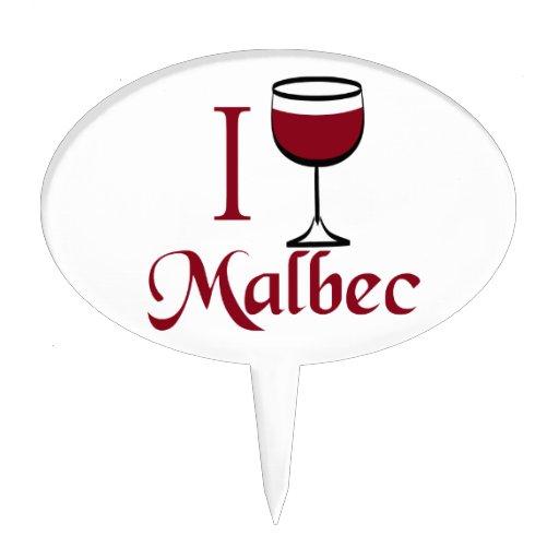 I Drink Malbec Wine Cake Picks