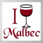 I Drink Malbec Wine Poster