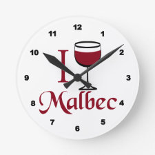 malbec wine clock