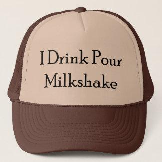 I Drink Pour Milk Shake Trucker Hat