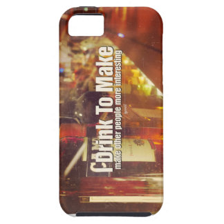 I Drink To Make People Interesting Photo Quote iPhone 5 Case