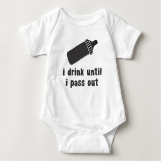 i drink until i pass out baby shirt