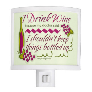 I Drink Wine Funny Quote Night Light