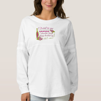 I Drink Wine Funny Quote Spirit Jersey