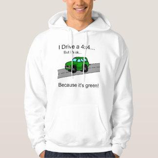 I Drive a green 4x4 hoodie