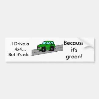 I Drive an SUV...But it's ok...,... Bumper Sticker
