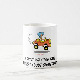 I drive way too fast classic white coffee mug