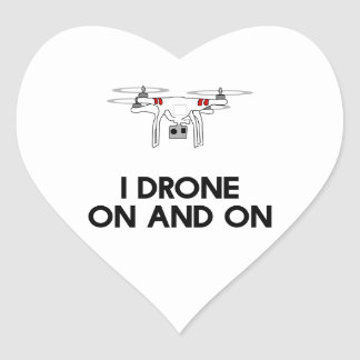 I drone on and on quadcopter heart sticker