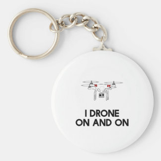I drone on and on quadcopter keychain