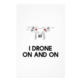 I drone on and on quadcopter stationery