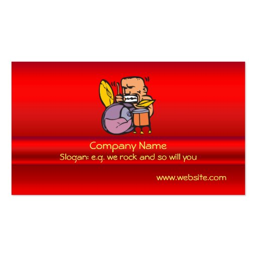 I drum fun drummer drumming business card templates zazzle for Drummer business cards