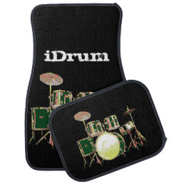 I Drum, iDrum for Band Drummer Car Mat