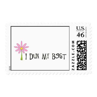 I Dun My Best Flower Stamp
