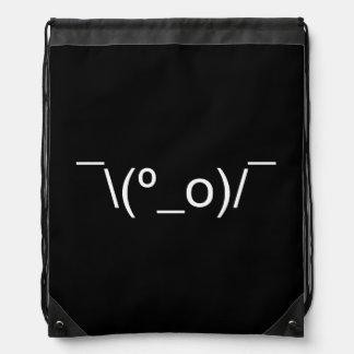 I Dunno LOL ¯\(º_o)/¯ Emoticon Japanese Kaomoji Drawstring Bag