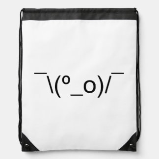 I Dunno LOL ¯\(º_o)/¯ Emoticon Japanese Kaomoji Drawstring Bag