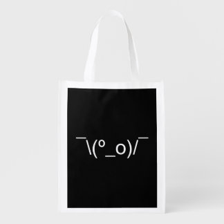 I Dunno LOL ¯\(º_o)/¯ Emoticon Japanese Kaomoji Grocery Bag