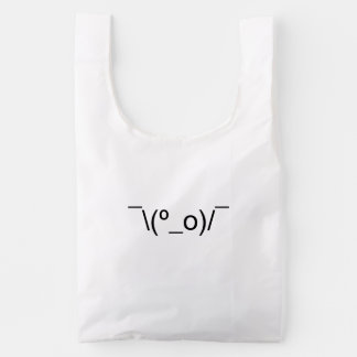 I Dunno LOL ¯\(º_o)/¯ Emoticon Japanese Kaomoji Reusable Bag