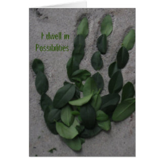 I dwell in Possibilities Stationery Note Card