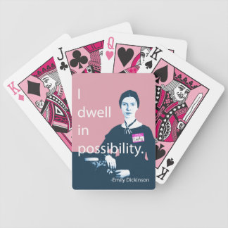 I Dwell In Possibility Emily Dickinson Cards Bicycle Playing Cards