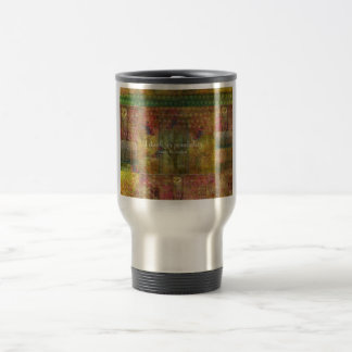I dwell in possibility. Emily Dickinson quote 15 Oz Stainless Steel Travel Mug