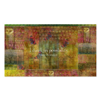 I dwell in possibility Emily Dickinson quote Business Card