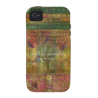 I dwell in possibility. Emily Dickinson quote Case-Mate iPhone 4 Case