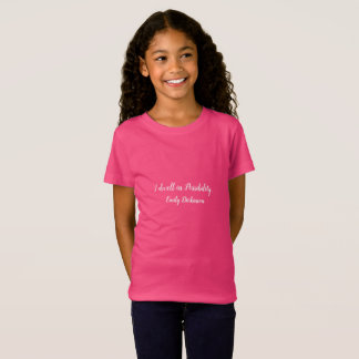 I dwell in possibility girl's shirt