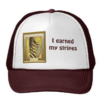 I earned my stripes, zebra design trucker hat