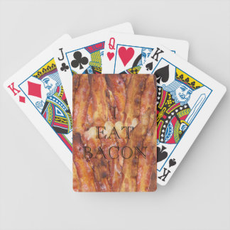 I Eat Bacon Text with Background Bicycle Playing Cards