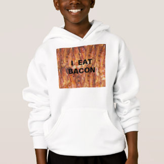 I Eat Bacon Text with Background Hoodie