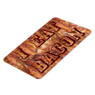 I Eat Bacon Text with Background Magnet