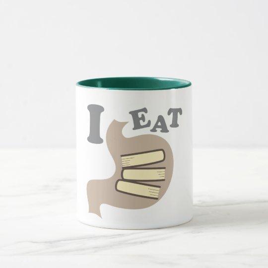 I EAT BOOKS MUG