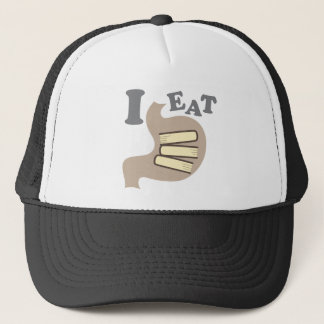 I EAT BOOKS TRUCKER HAT