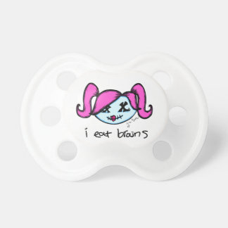 """""""i eat brains"""" Cute Zombie Pacifiers"""
