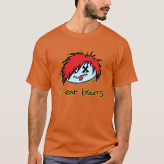 """i eat brains"" Emo Zombie T-Shirt"